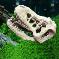 Aquarium Crocodile Dinosaur Skull Resin Fish Tank Landscaping Ornament Decor