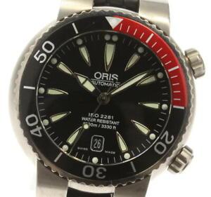 ORIS 633-7541 Diver Date black Dial Automatic Men's Watch_597786