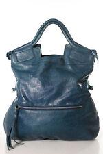 Foley + Corinna Blue Leather Medium Size Hobo Handbag