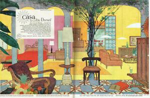 Drexel Casa Del Sol John Van Koert Mid Century Modern Furniture 1957 Magazine Ad