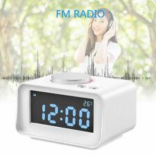 K1LCD Digital Dual Alarm Clock FM Radio Snooze Time Clock with Dual USB Charging