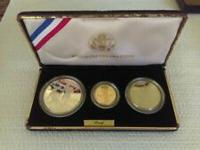 New Listing1994 World Cup 3 Coin Commemorative Set With $5.00 Gold And Silver Dollar & Half