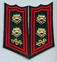 Finland Army SA Defense Academy Medical Lieutenant Colonel Collar Tabs