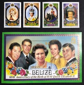 Belize - 1986 - Queen Elizabeth - 60th Birthday - Unmounted Mint.