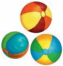 WALLIES BEACH BALLS Mural 7 Prepasted wall decals Ocean Sand Toy Vacation decor