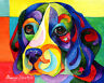 BEAGLE 8X10 Colorful DOG Print from Artist Sherry Shipley