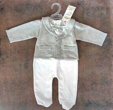 Baby Anzug Einteiler Strampler gr 56(62) 1-3 Mon, Taufe Fest Geburtstag Hochzeit