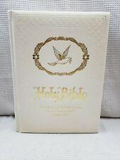 Vintage Gibson Holy Bible Wedding Edition 1978 King James Version White 8.5x11.5