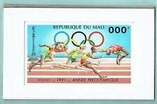 MALI 1991 PRE OLYMPICS ORIGINAL DRAWING ARTWORK ATHLETICS SPORTS UNISSUED UNIQUE