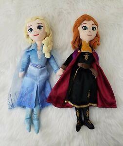 "TY Beanie Disney Frozen II ELSA Sparkle & Anna Plush Doll. 16"""