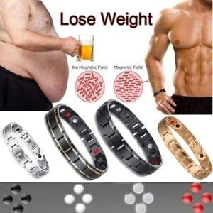 Stainless Steel Black Magnetic Chain Bracelet for Women Men Health Care Energy