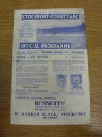 13/04/1946 Stockport County v Tranmere Rovers [Division 3 North West] (folded, s