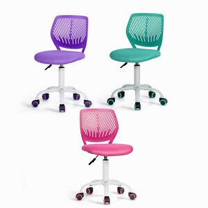 Kids Computer Desk Chair Low-Back Task Study Chairs Swivel Mesh Adjustable
