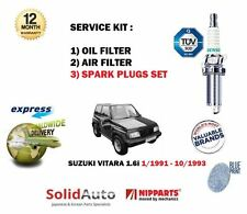 Para Suzuki Vitara 1.6 1991-1993 Aire Aceite 2 Filtro Set + Bujías Servicio Kit