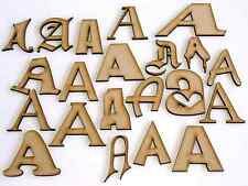 MDF Wooden Shapes Letters 50mm High 3mm Thick Custom Cut Georgia x 1