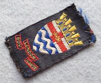 Vintage London Boy Scouts cloth badge, approx 58x32 mm.