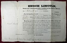 1827 Maine State Militia Commission Wm Gale As Ensign By Gov Enoch Lincoln