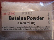 Pristex Pure BETAINE POWDER (Granules) 10g for fishing baits & boilies