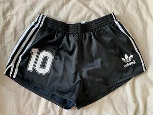 Adidas Black Shorts Retro Style Size L