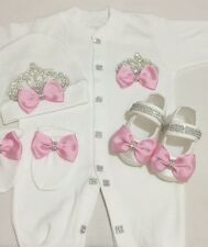 newborn baby shower outfit gift 3&4 pics, boys and girls 100%cotton 0-3 months