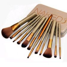 Pro 12 PCS NAKE3 Makeup Set Powder Foundation Eyeshadow Cosmetic Brushes+Box New