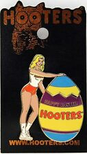 NEW HOOTERS HOLIDAY HAPPY EASTER GIRL 2006 EGG TOP OPENS HOOTIE LAPEL PIN