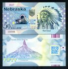 USA States, Nebraska, $50, Polymer, ND (2019), UNC - Chief Red Cloud