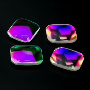 10pcs Optical Glass Scaly Prism Science Research Decoration Lens Color Coating