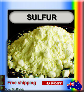 Sulfur Powder 100% Pure High Quality Natural Sulphur Soap Candle Rub Curative