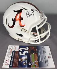 Dylan Moses SIGNED Alabama Crimson Tide Football Mini Helmet w/ JSA COA