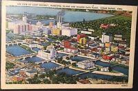 VTG 1940 Postcard Air View Loop District Quaker Oats Plant Cedar Rapids Iowa B29