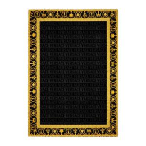 "Versace Baroque Jacquard Medusa Bath/Beach Towel Black - 76.77"" x 57.09"""