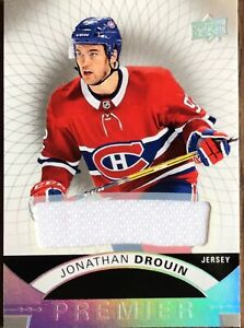 2017-18 UD Premier Jonathan Drouin Jersey #38 Montreal Canadiens