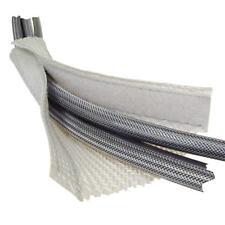 3 m Kabelschlauch mit Klettverschluss weiss; Kabelmantel, Kabelkanal