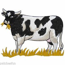 Cow Bull Milk Grass Farm Zoo Animal Cartoon Kids Children Iron on Patches #1441
