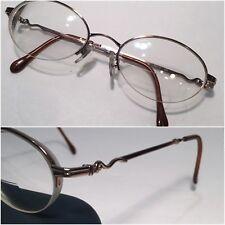 Luxottica LU2223 T127 Rx Frames Eyeglasses Half Rimless Metal 50 19 130 Italy