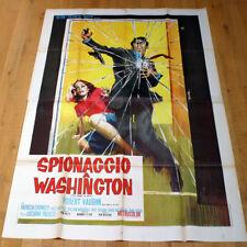 SPIONAGGIO A WASHINGTON poster manifesto Robert Vaughn Paluzzi To Trap a Spy G17