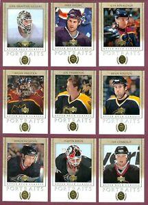 2002-03 UPPER DECK CLASSIC PORTRAITS NHL HOCKEY CARD 1 TO 138 SEE LIST