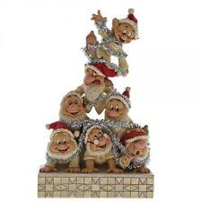 Disney Christmas Decoration Precarious Pyramid Seven Dwarfs Figurine