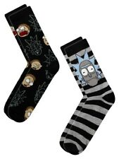Rick and Morty 2-Pack Hommes Chaussettes Noires
