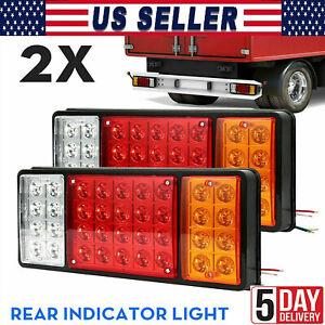 12V 72LED Rear Tail Light Brake Stop Indicator Lamp Trailer Truck Van Caravan US