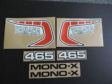 1981 YAMAHA YZ 465 EURO MODEL COMPLETE DECAL SET AHRMA