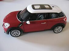 WELLY 1:24 SCALE MINI COOPER S PACEMAN DIECAST CAR MODEL W/O BOX NEW!