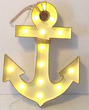 Light Up Metal Anchor Sign Nautical Bar Art Wall Cafe Decor