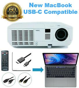 Refurbished NEC NP-V260X DLP Projector - New MacBook Mac USB-C Compatible bundle