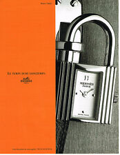 PUBLICITE ADVERTISING 074  1999  HERMES  collection montre KELLY