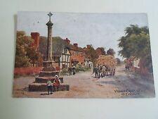 Vintage Postcard VILLAGE CROSS WYRE Nr Evesham AR QUINTON Franked c1919   §R49