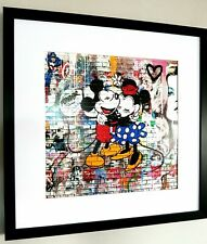 Mickey Mouse-Arte Enmarcado-Graffiti-Mr Brainwash-Banksy-Pop Art-Kate Moss