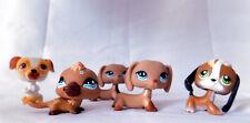 5 Littlest Pet Shop 2 Daschunds Blue Eyes + Beagle Platypus PUppy