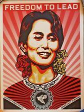 "Shepard Fairey (OBEY) - AUNG SAN SUU KYI ""Freedom To Lead"" - S/N/450 - 2009"